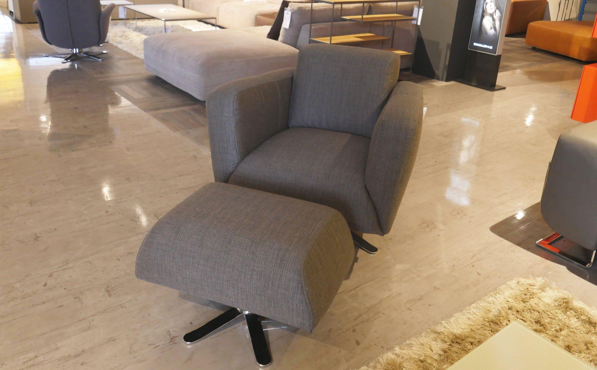 JOOP Livingroom Lounge Sessel mit Hocker wohnparc