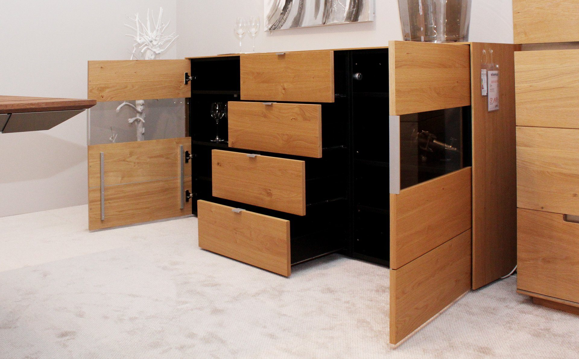 musterring sideboard q media. Black Bedroom Furniture Sets. Home Design Ideas
