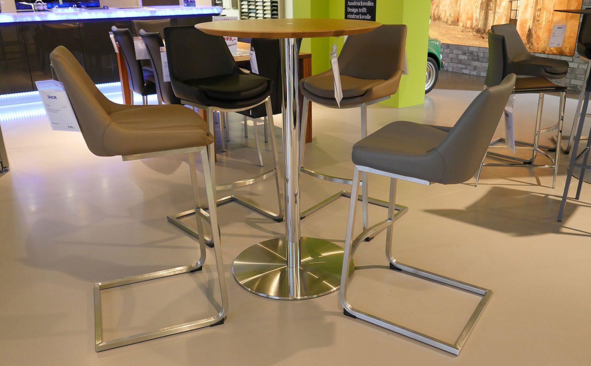 Ronald schmitt design bistrotisch modell p 431 for Design bistrotisch