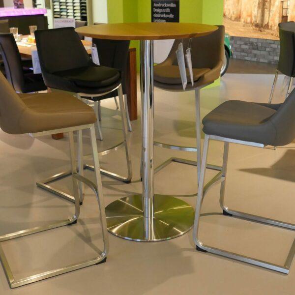 Ronald Schmitt Design Bistrotisch Modell P 431-Wohnbeispiel2