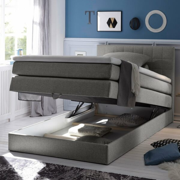 "Trendstore ""Blizz"" Boxspringbett anthrazit Funktion Bettkasten"