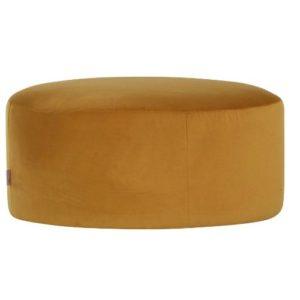 "Trendstore ""Goldy"" Hocker-gelb-in-runder-Form"