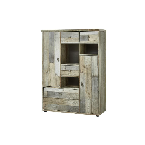 "Trendstore ""Ilja"" Highboard in-Driftwood-Nachbildung-"