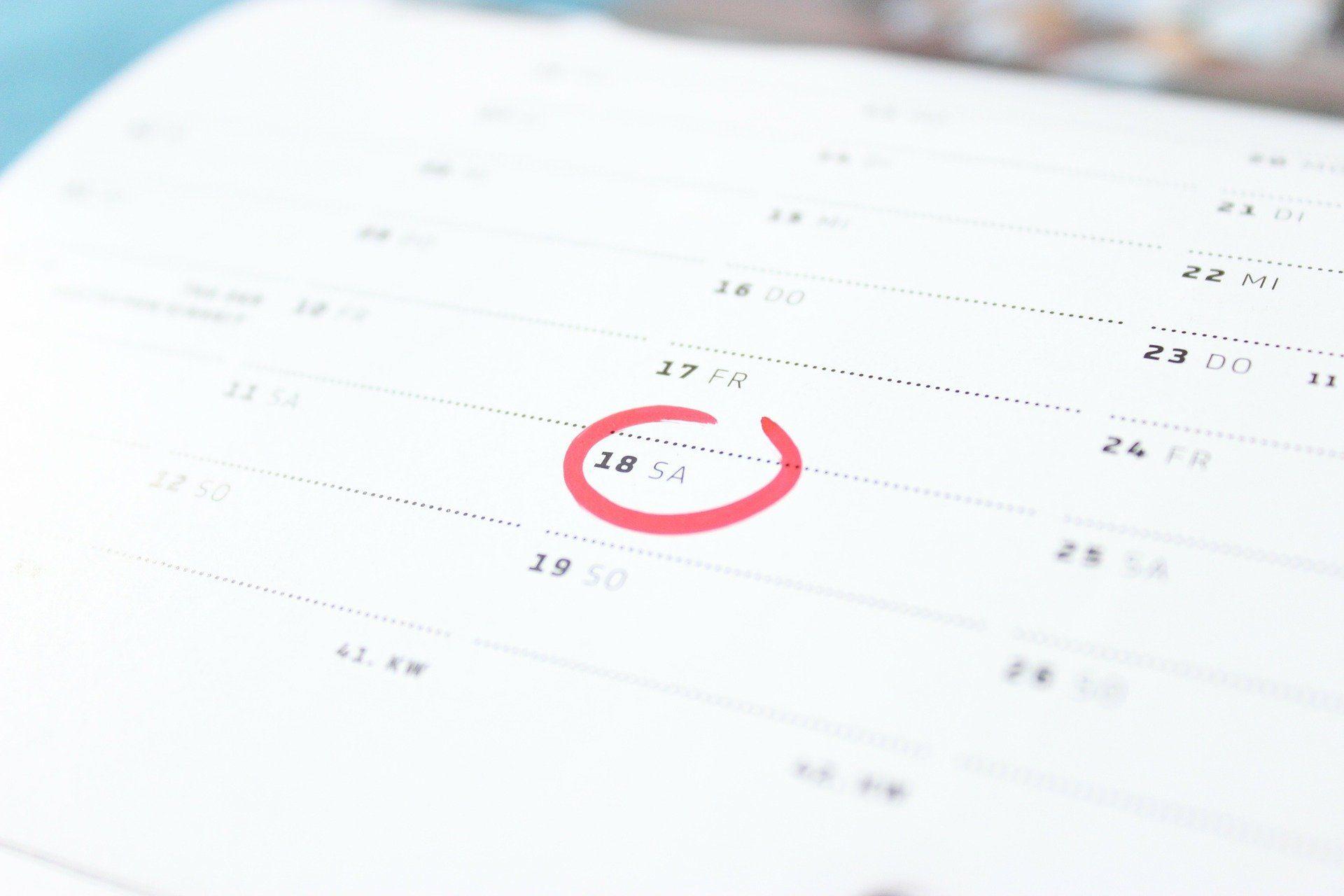 Kalender Besuchstermin vereinbaren