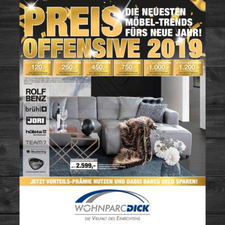 Preis-Offensive im Wohnparc Dick
