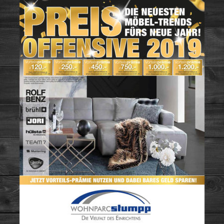 Preis-Offensive im Wohnparc Stumpp