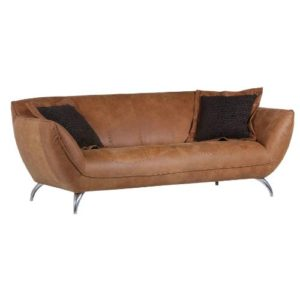 """Trendstore """"Galina"""" Sofa-2-Sitzer-cognac-in-echtem-Lederbezug"""