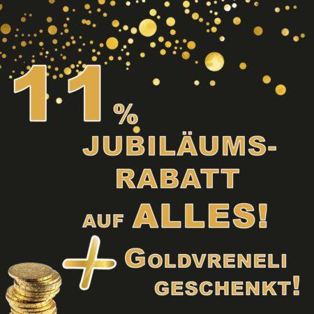 11% Jübiläumswochen