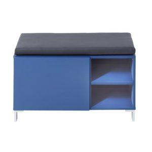 "Trendstore ""Ibbo"" Garderobenbank blau frontal"