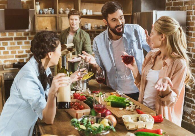 Feier in der Küche