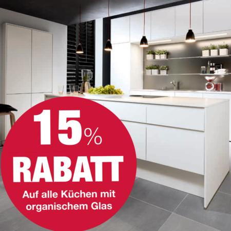 15 Prozent auf Küchen aus organischem Glas