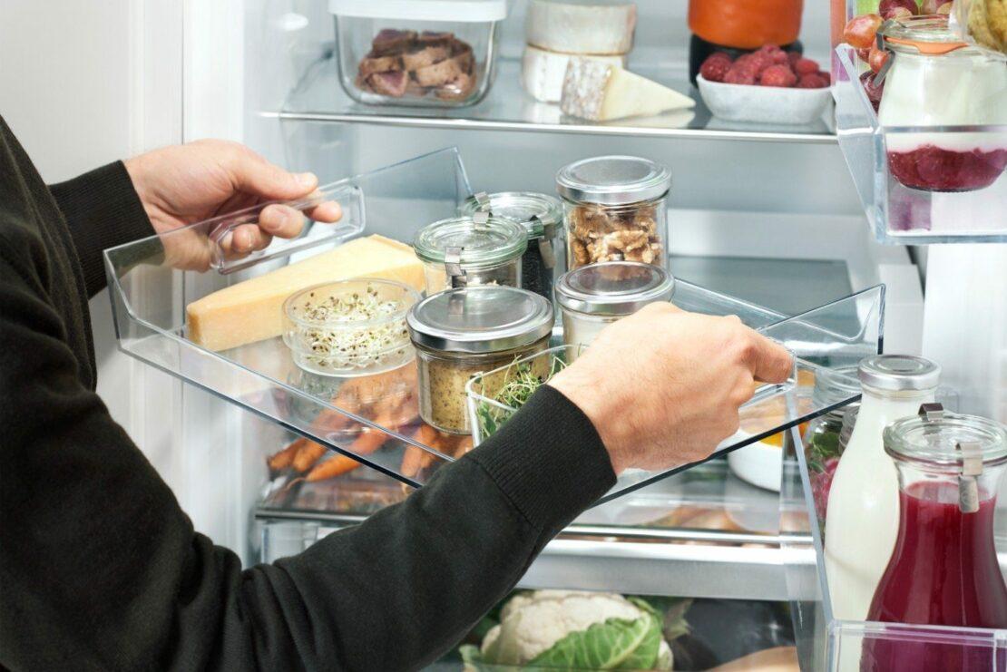 Beispiel für den flexiblen Innenraum eines Kühlschranks