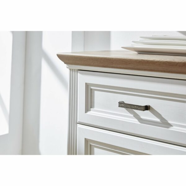 """Trendstore """"Imbria"""" Sideboard weiß Detail Griff"""