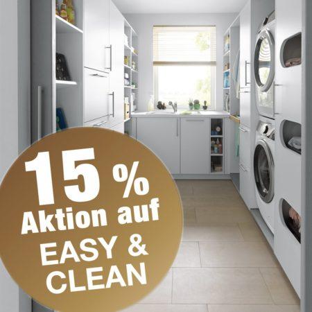15 Prozent Aktion auf EASY & CLEAN Hauswirtschaftsräume