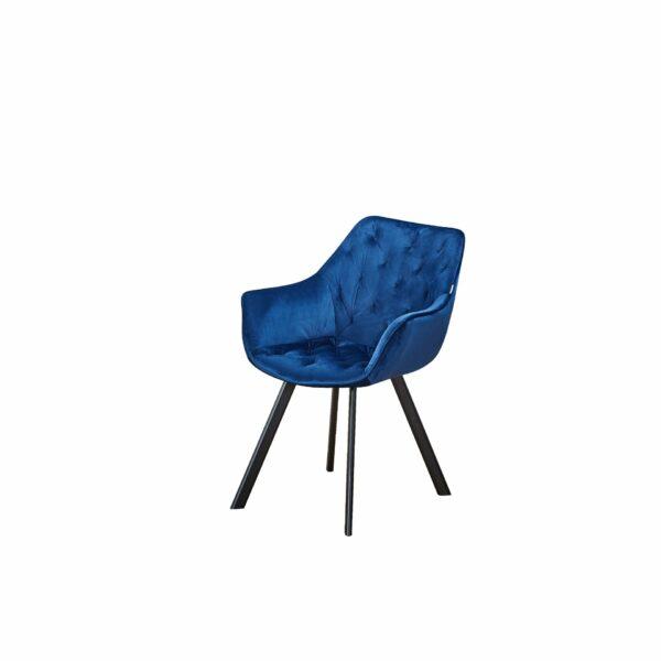 "Trendstore ""Merve"" 4-Fuß-Stuhl blau"