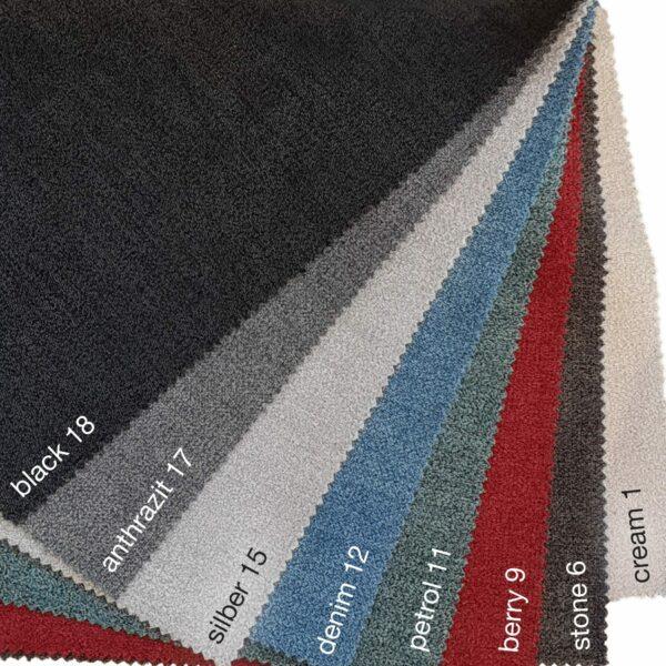 Textilbezug Aston - Farbpalette