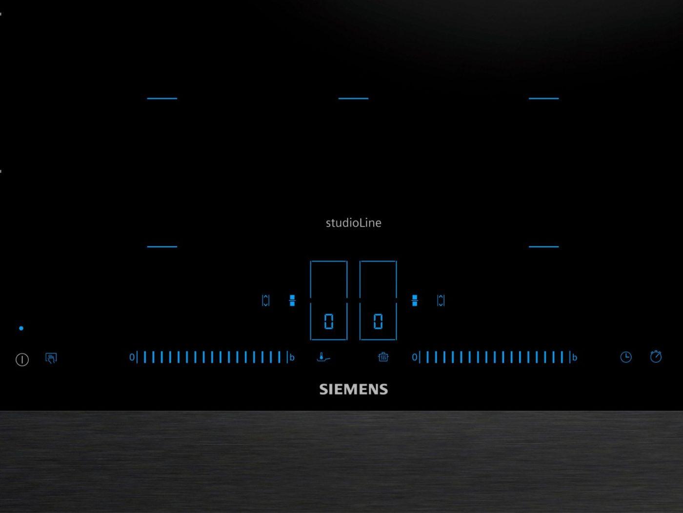 Bedienelemente des Siemens iQ700 Kochfeld