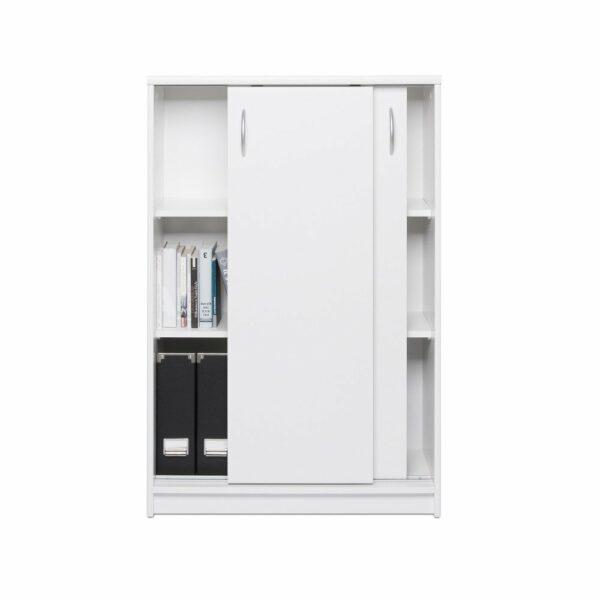"""Trendstore """"Falka"""" Schiebetürenschrank, Breite 74 cm, Dekor weiß, Innenansicht mit Dekoration"""
