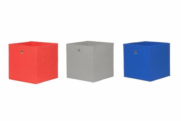 """Trendstore """"Fierra"""" Stoffbox, rot, schlamm, blau"""
