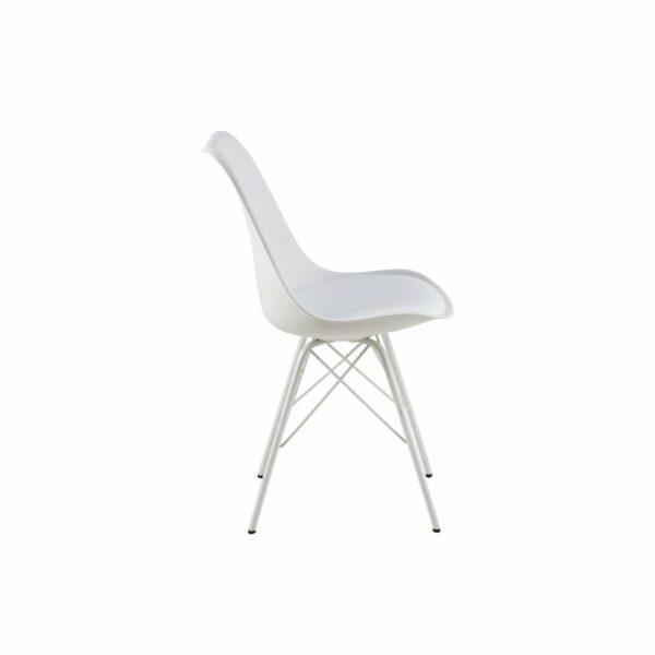 """Trendstore """"Ariane"""" Stuhl Kunstleder weiß seitlich"""