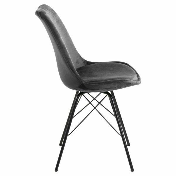 """Trendstore """"Ariane"""" Stuhl Stoffbezug dunkelgrau seitlich"""