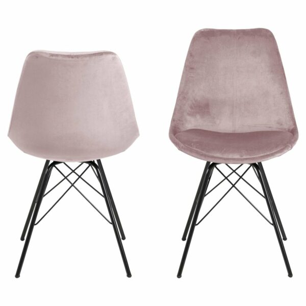 "Trendstore ""Ariane"" Stuhl Stoffbezug rosé frontal"