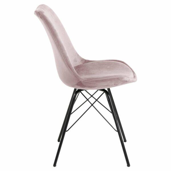 """Trendstore """"Ariane"""" Stuhl Stoffbezug rosé seitlich"""