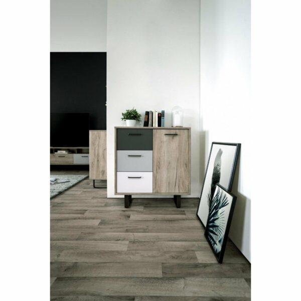 "Trendstore ""Fred"" Kommode, Ambiente 2, Dekor Grey Craft Oak / Farbmix"