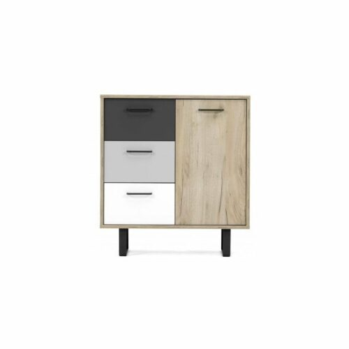 "Trendstore ""Fred"" Kommode, frontal, Dekor Grey Craft Oak / Farbmix"
