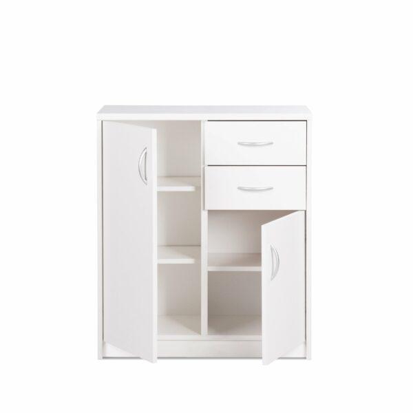"""Trendstore """"Falka"""" Kommode Breite 74 cm in Dekor weiß - geöffnet"""