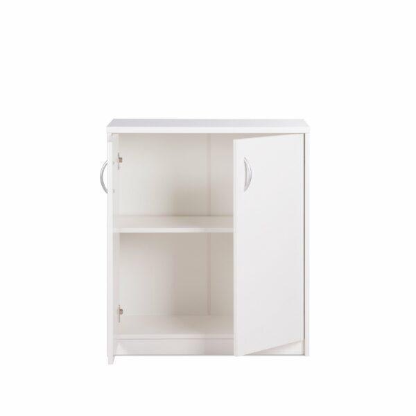 """Trendstore """"Falka"""" Kommode mit zwei Schranktüren in Dekor weiß - geöffnet"""