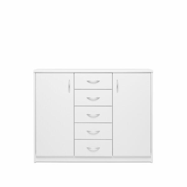"""Trendstore """"Falka"""" Kommode zwei Türen und vier Schubladen - Dekor in weiß"""