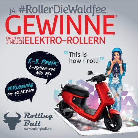 Gewinnen Sie einen von drei Elektro-Roller NIU M+