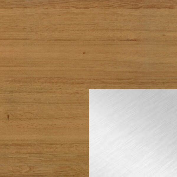 Willisau Ausführung Eiche natur ohne Charaktermerkmale - Gestell aus Aluminium natur gebürstet