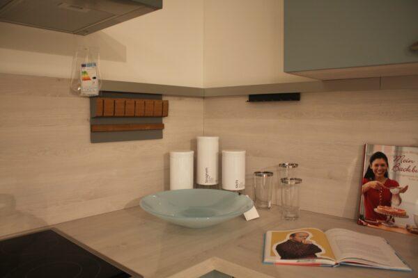 """Küchenblock """"B157794E1112"""" - Ecke mit Profilleiste, Messerhalter und Hakenleiste"""
