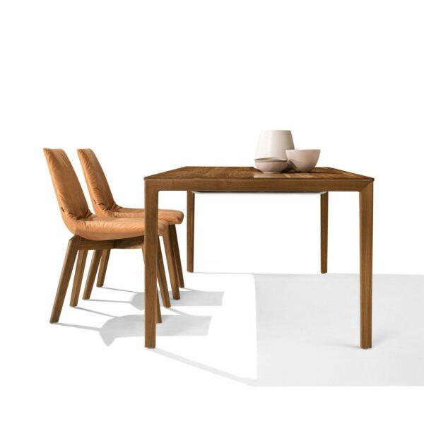 """Team 7 """"Tak"""" Auszugstisch mit Tischplatte und Gestell in Nussbaum geölt"""