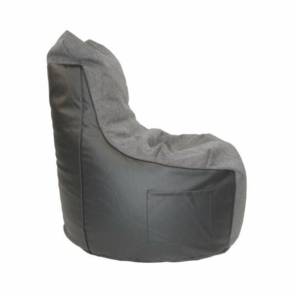 """Trendstore """"Levon"""" Sitzsack, Kunstleder schwarz, Seite, Breite 65 cm"""