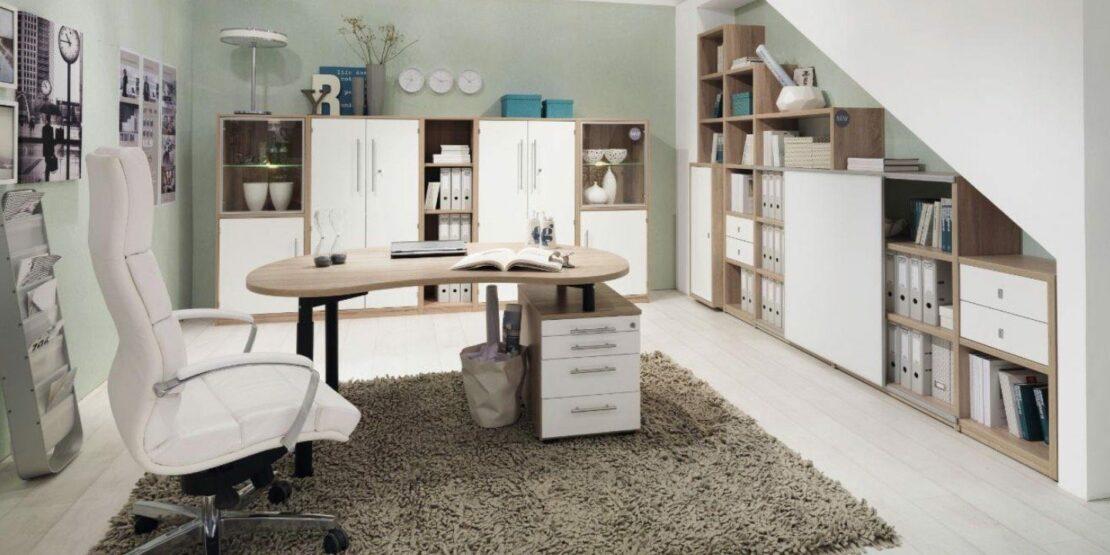 Moderne und elegante Schreibtischkombination