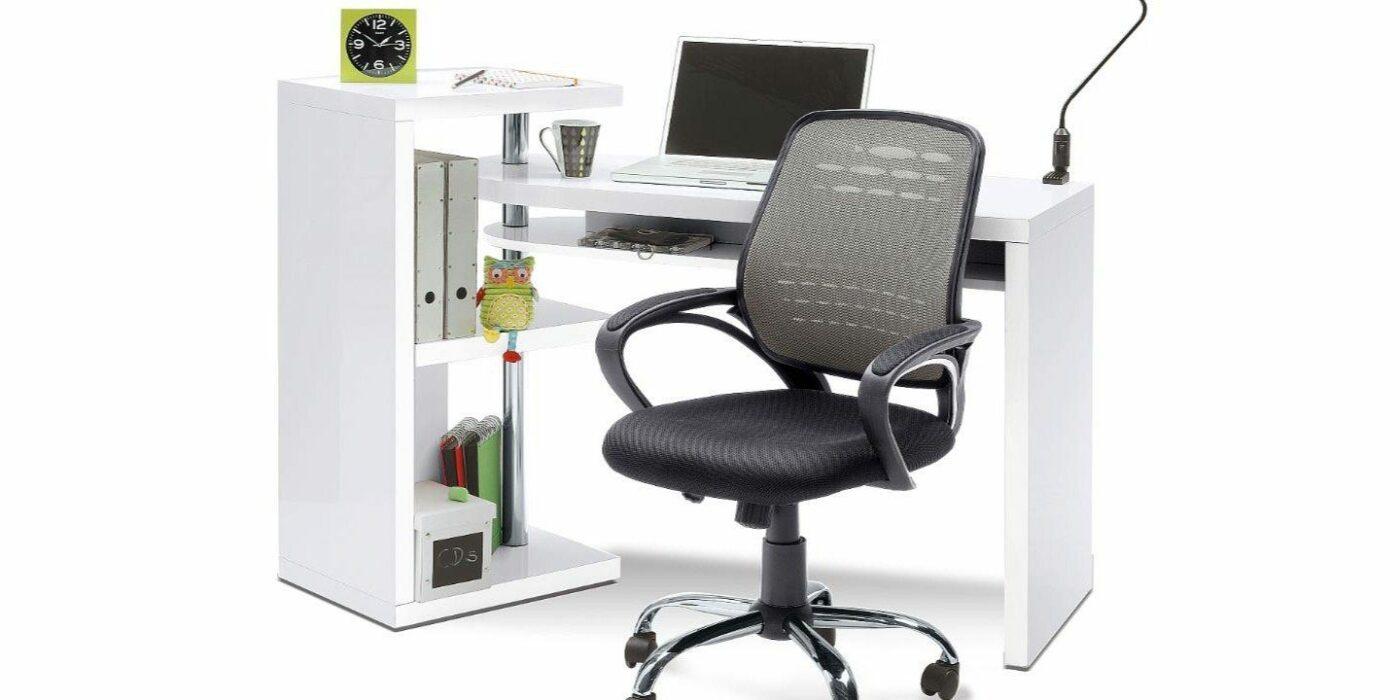 Kompakte Schreibtisch-Kombination mit viel Stauraum