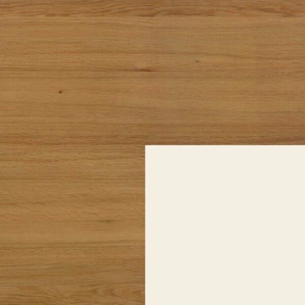 Willisau Ausführung Eiche ohne Charakter Gestell Aluminium weiß pulverbeschichtet