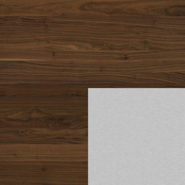 Willisau Ausführung Nussbaum ohne Charaktermerkmalen Aluminium natur gebürstet