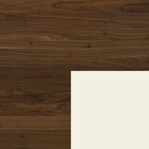 Willisau Ausführung Nussbaum ohne Charaktermerkmalen Aluminium weiß beschichtet