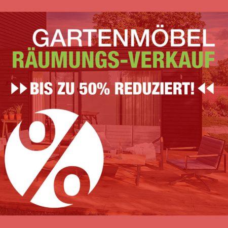 Gartenmöbel-Räumungsverkauf - bis zu 50 Prozent sparen!