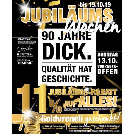 Jubiläums-Wochen – Wohnparc DICK