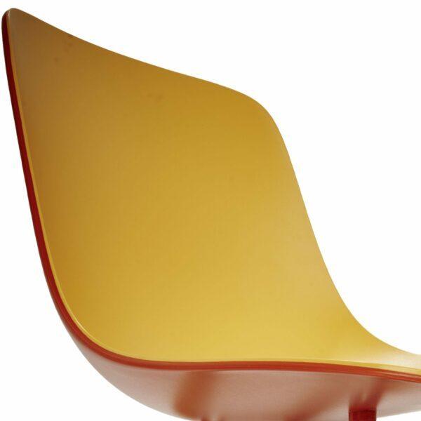"""Raum.Freunde """"Greta Binuance"""" Stuhl - Kunststoffschale und weißes Gestell - zweifarbige Sitzschale"""