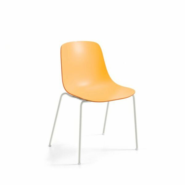 """Raum.Freunde """"Greta Binuance"""" Stuhl - Kunststoffschale und weißes Gestell"""