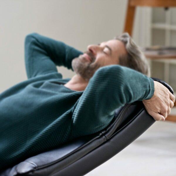 """Stressless """"View"""" Sessel mit Hocker - Beispiel Schlaffunktion"""