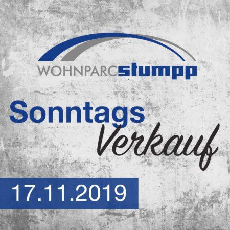 Sonntagsverkauf am 17.11.2019 im Wohnparc Stumpp
