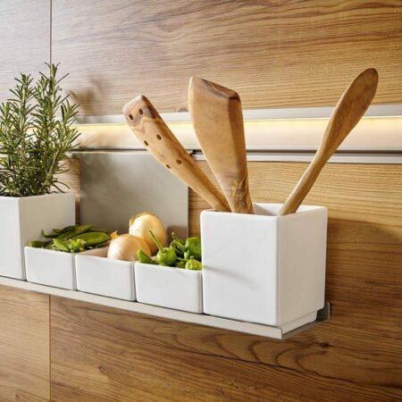 Das richtige Aufbewahrungssystem für Küchen-Utensilien