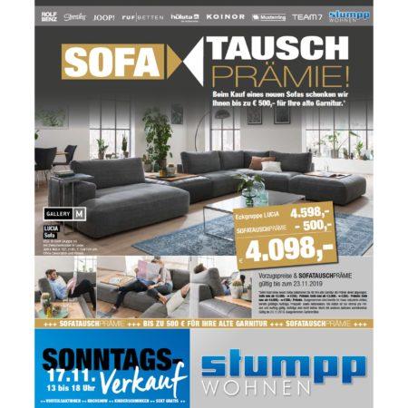 Sofa Tausch-Prämie bei Stumpp Wohnen